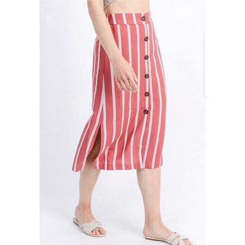 *Stroll With Me Striped Skirt