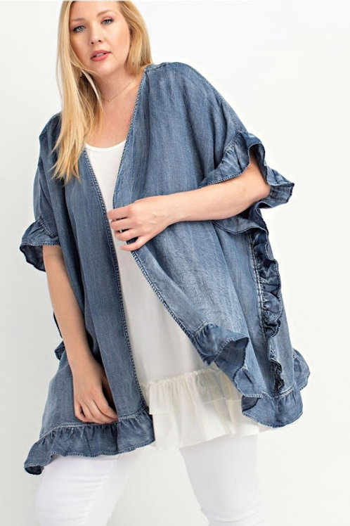 *The Kendra Open Cardigan - Plus