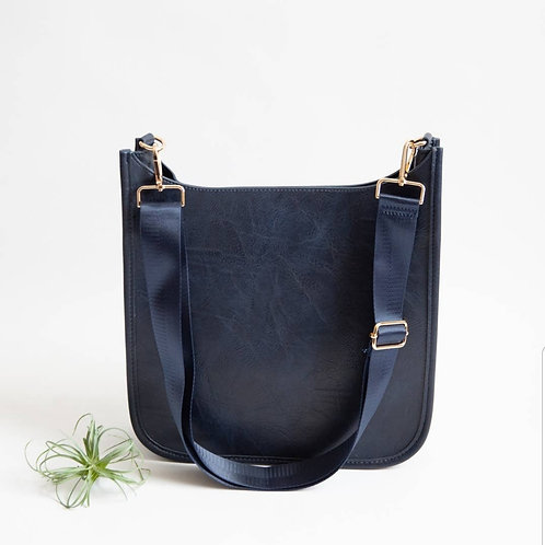 Crossbody Messenger Bag - Navy