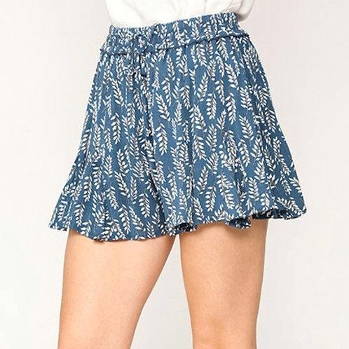 *Back to Paradise Blue Flouncy Shorts