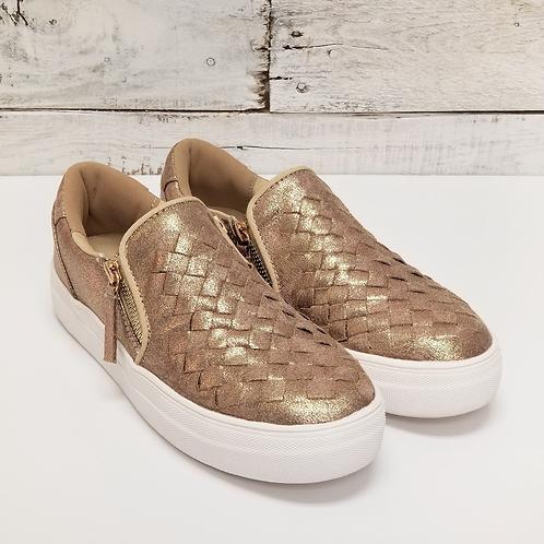 NR Tiffani Gold Slip On Sneakers