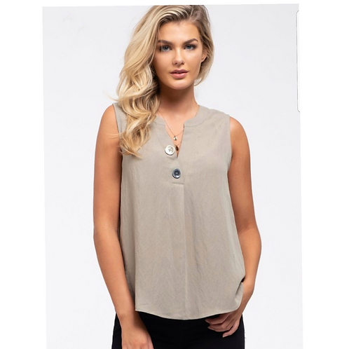 *The Double Different Button Top - Lt Olive