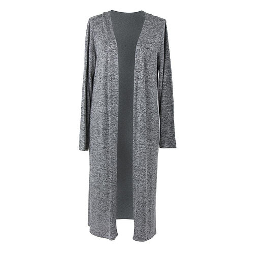 *Carefree Threads Long Cardigan-Grey