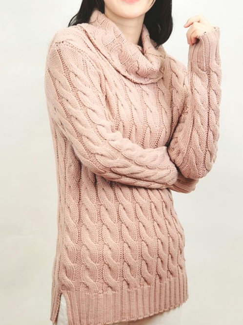 Snow Day Sweater-Dusty Pink