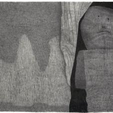 Sans titre, 2020, fusain sur toile, 185x240 cm.