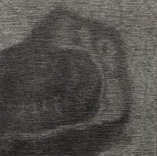 Sans titre, 2019, fusain sur toile, 27x35 cm.