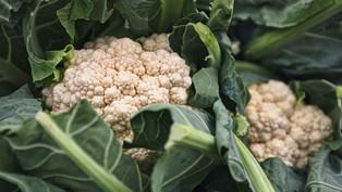 Cauliflower leave stir-fry