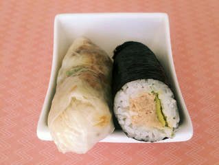 Battle 1: Sushi Roll Vs Rice Paper Roll