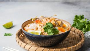 Low-Fat Chicken Laksa