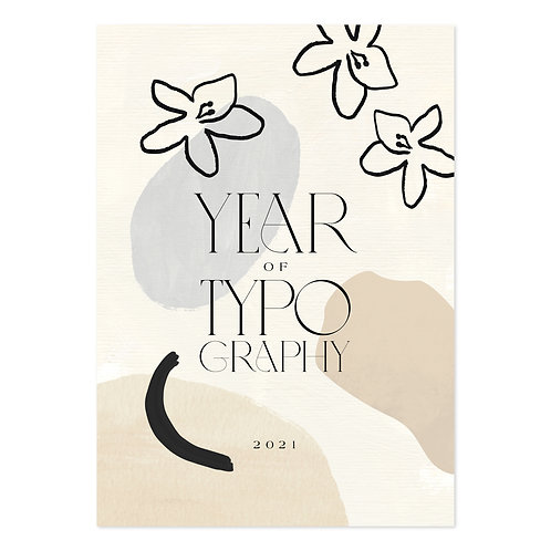 Typografie kalender 2021