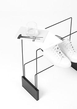 Folding shoe rack