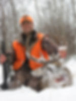 hunting, winter, deer