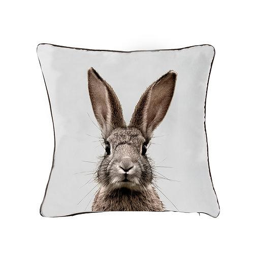 Kussen Suéde konijn print