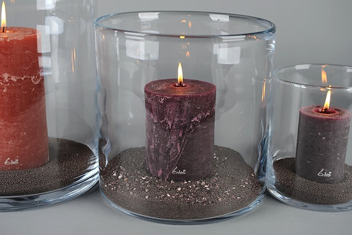 Cilindervaas in helder glas