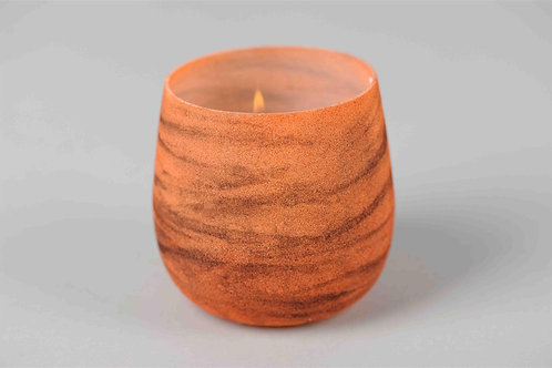 Tornadic orange - glazen votief