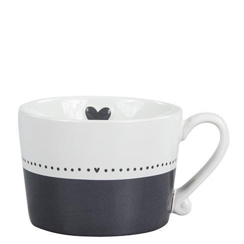 Bastion mug black/white line dots