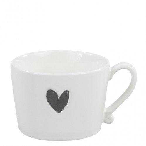 Bastion mug white/heart in black