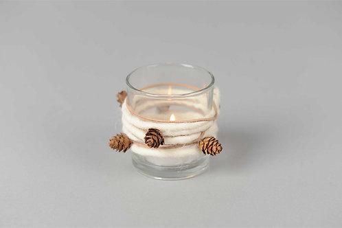 Rope wrap asperge - glazen votief