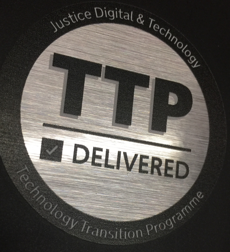 A picture of a TTP Delivered Sticker