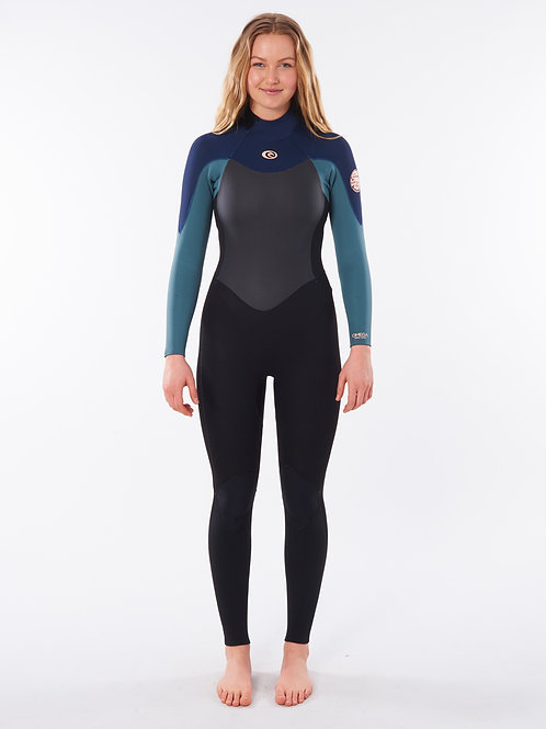 Women Omega 4/3 Back Zip Wetsuit