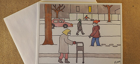Covid-19 - Street Scene Greeting Card