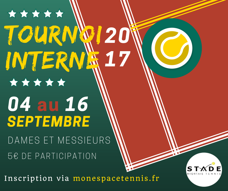 image tournoi interne 2017 stade niortais tennis