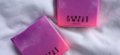Purple Ombre Soap