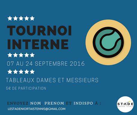 Archives - Tournoi interne 2016
