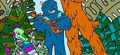 Sebastian the Swamp Monster Starts a Band