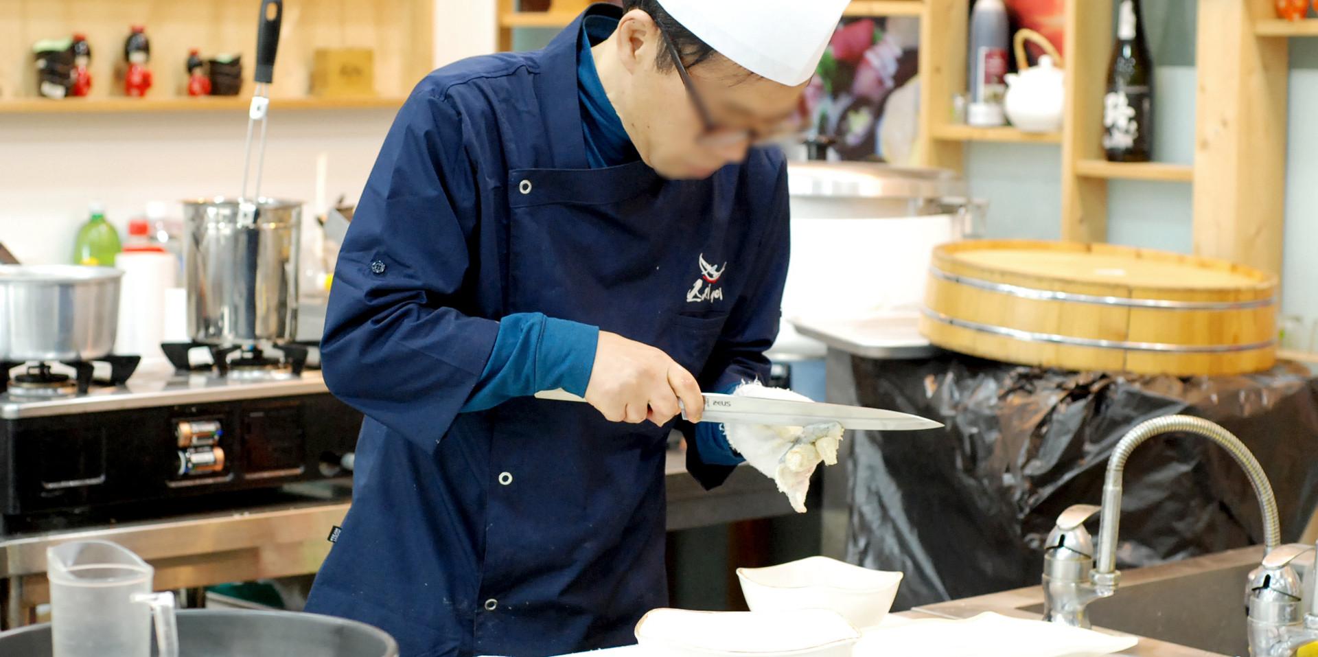 생새우(생대하) 초밥 만들기