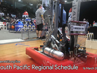 South Pacific Regional Schedule