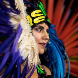Traditional Aztec Dancer