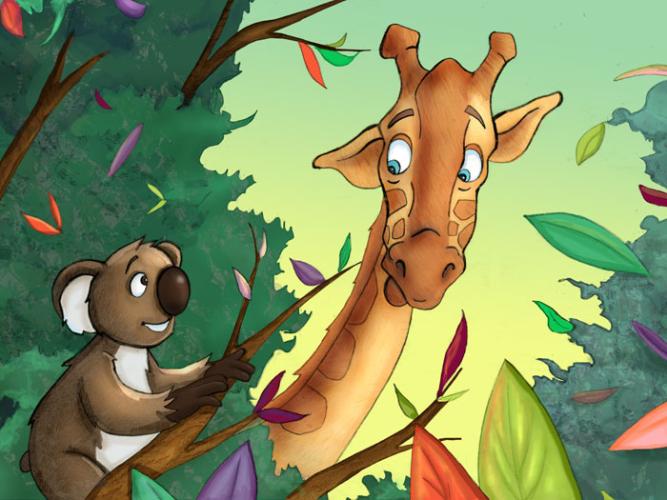 giraffe-peeking