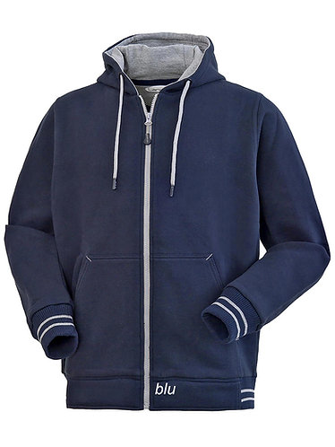 Felpa Lancelot  blue navy zip lunga