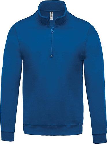 Felpa Kariban blue royal zip corta