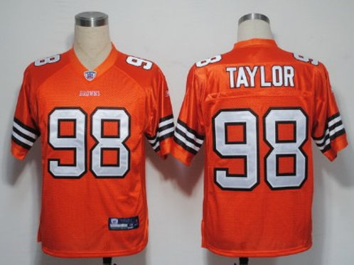 Cleveland Browns 98 Phil Taylor Authentic Brown Je