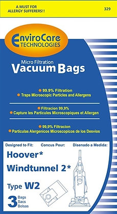 "Hoover ""W2"" Paper Bag Micro Filter 3 Pack Replacem"