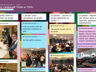 Mur collaboratif TCOM et TSPVL