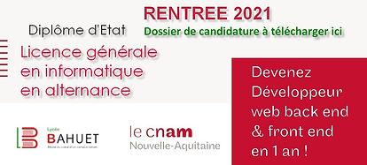 Licence CNAM Licence générale en informa