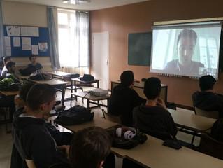 Une intervention par vidéo conférence pour former les étudiants en informatique