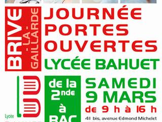 La journée portes ouvertes du Lycée BAHUET à Brive a eu lieu le samedi 9 mars 2019 de 9 h à 16 h