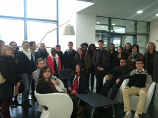Visite de l'entreprise Silab par les étudiants de deuxième année BTS Assistant de Gestion, à réf