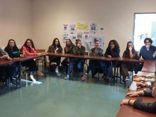 Les élèves des classes de Préparation aux Concours Sociaux et les Terminales Service de Proximité et