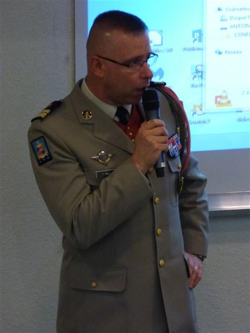 Intervention du Colonel Thomas MOLLARD CDC du 126RI et CDT de la BDD - 05-01-2017 - Photo 3