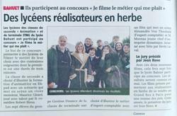 Des lycéens réalisateurs en herbe - La M