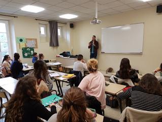 Intervention d'un professionnel auprès de la classe Préparatoire aux Concours Sociaux (PCS) du Lycée