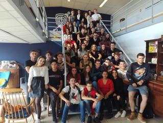La section STMG à la Gaillard Académie  pour sa sortie d'intégration
