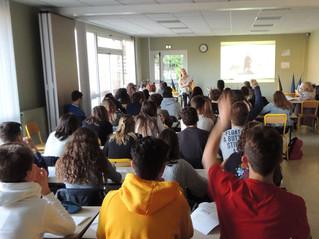 Un atelier formateur pour les lycéens du Lycée Bahuet
