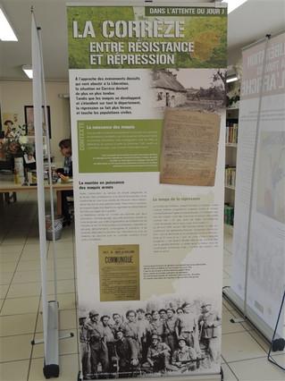 Exposition prêtée par le Musée Edmond Michelet au CDI du lycée Bahuet du mardi 14 avril 2015 au vend