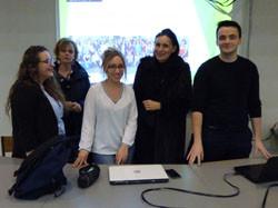 08-02-2018 - 3 anciennes élèves du Lycée présentent l'IFSI de Tulle